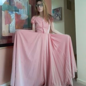 1940's taffeta bridesmaid's gown